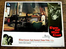 EYE OF THE CAT Original CULT HORROR Lobby Card MICHAEL SARRAZIN GAYLE HUNNICUTT