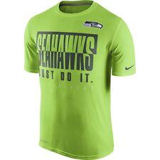Nike Seattle Seahawks Team Practice Legend Mens Shirt-SZ MD Neon GRN 679367 308