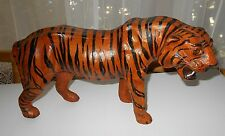 PAPER MACHE' LEATHER COVERED BENGAL TIGER