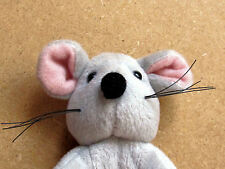 LATIMER OF BEWDLEY GREY MOUSE WITH PINK INNER EARS AND BLACK WHISKERS SQUEAKS