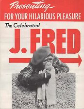 1950s Promotional Brochure for J. Fred Muggs the Monkey Animal Act