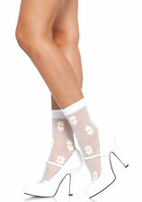 Daisy Anklets White mesh Socks Leg Avenue 3036 sexy new Rock & Roll Dancer