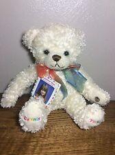 """NWT 9"""" Rainbow Teddy Bear Plush Sings Connie Talbot I Will Always Love You"""