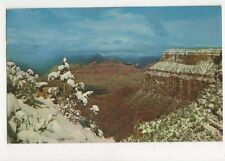 Grand Canyon Arizona South Rim In Winter 1958 Postcard USA 566a