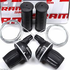 SRAM MRX Comp 3x8 Grip Shift 24-Speed Bike Twist Shifter Set Cables fits Shimano