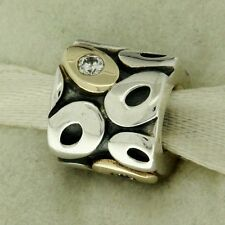 Authentic Pandora 790431CZ OH MY! Clear CZ 14K Gold & Sterling Silver Bead Charm