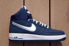 "NIKE Air Force 1 High'07 * 44 10 * US Navy Blu"" 315121-405 Basket NUOVO NEW"