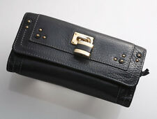 G5894M Authentic Chloe Paddington Cadena Genuine Leather Long Wallet