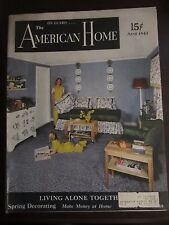 The American Home Magazine April 1943 Living Alone Together (G)