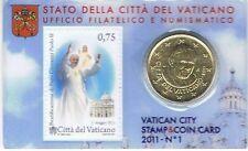 VATICAAN - COINCARD 50 CENT 2011 NR 1 + POSTZEGEL