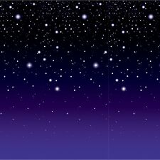 Hollywood STARRY NIGHT star BACKDROP Party Decoration PHOTO PROP Alien SPACE