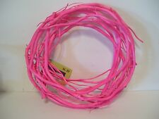 PINK GRAPEVINE SPRING EASTER  WREATH HOLIDAY DECORATION