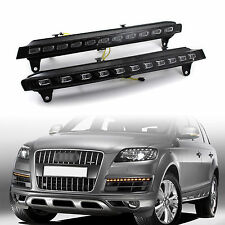 Car LED Daytime Running Light DRL Turn Signal Lamp for Audi Q7 2006 2007 08 2009