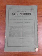 ANALECTA JURIS PONTIFICII Droit canonique Theologie Liturgie No 130 Fevrier 1876