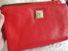 NEW DOONEY & BOURKE POUCH OR CLUTCH - RED FROM QVC - SHARP!