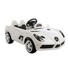 Mercedes Benz SLR 12V Electric Kids Ride On Toy Car MP3 RC Remote Wheels White