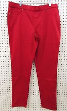 Faded Glory Women's Pull On Elastic Waistband Jean Pant (NWOT, Red, Size 14)