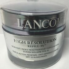 Lancome High Resolution Refill 3X Triple Action Renewal Anti-Wrinkle Cream 2.5oz