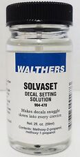 Walthers 904-470 Solvaset Decal Setting Solvent 2oz 59.1mL Bottle