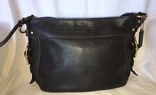 COACH 12671 Black Leather ZOE Hobo Handbag Purse Bag-NICE