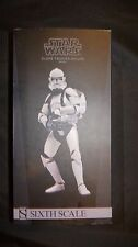 "Sideshow Star Wars Clone Trooper Deluxe: Shiny 1/6th Scale Action Figure 12"" NEW"