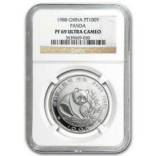 1988 China 1 oz Proof Platinum Panda PF-69 NGC - SKU #77050