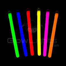 "(100) 4"" GLOW LIGHT STICKS NECKLACES w/LANYARDS - 8 ASST COLORS - GLO LITE PARTY"