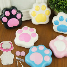 Lovely Cat Paw Pattern Contact Lens Case Mirror Travel Holder Container Box 8O7