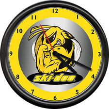 Ski-Doo Angry Bee Ski Doo Snowmobile Racing Retro Vintage Dealer Sign Wall Clock