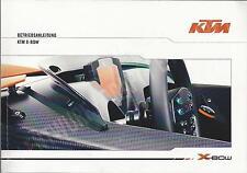 Ktm Sportcar X-Bow manual de instrucciones de 2008 instrucciones de uso manual ba