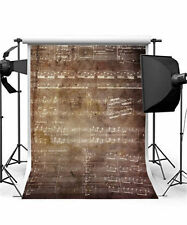 Retro Background Studio Vintage Photography Backdrops Sheet Music Vinyl 5x7FT