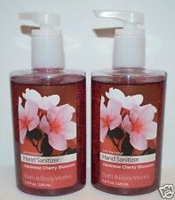 2 BATH BODY WORKS JAPANESE CHERRY BLOSSOM ANTI BACTERIAL HAND SANITIZER GEL LOT