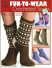 (4600) Annie's Attic Fun-To-Wear CROCHETED SOCKS for Entire Family - NEW