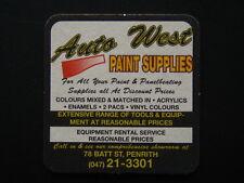 AUTO WEST PAINT SUPPLIES 78 BATT ST PENRITH 047 213301 COASTER