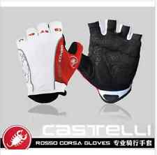 Castelli Rosso Corsa Bicycle Half Finger Cycling Gloves Mountain Bike Gloves New
