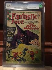 FANTASTIC FOUR #21 CGC 5.5 1ST HATE-MONGER SGT FURY XOVER (ID 6647)