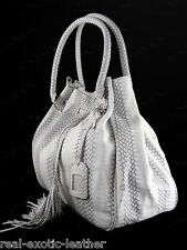 Genuine Cobra Snakeskin Tassel Bag Large ### NEW ###