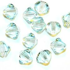 SCB6143 LIGHT AZORE Blue 8mm Faceted Xilion Bicone Swarovski Crystal Beads 12/pk