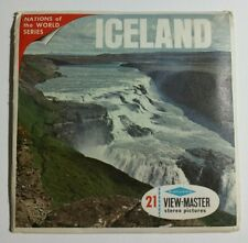 RARE View-Master  ICELAND  A085  3 Reel Set + Booklet