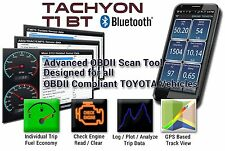 Toyota OBD2 OBDII Bluetooth Scan Tool ECU ABS SRS EMPS |Tachyon T1 2.0 Software