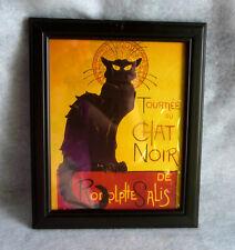 """Vintage Tournee Du Chat Noir De Rodolptte Salis Black Cat Print Poster  10"""" x 8"""""""