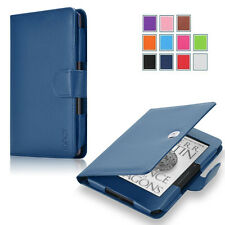 Exact Pro Premium PU Leather Folio Case Cover for Amazon Kindle Voyage 2014 NAVY