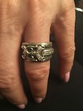 RARE CHROME HEARTS Sterling Silver & Diamond Dagger Ring!