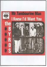 BYRDS  POSTER,  Mr Tambourine Man. Psychedelia, 60's pop, Folk Rock.