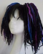 Wool Dreads short hair fall black blues festival goth kawaii harajuku cosplay