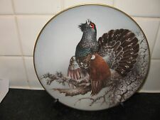 THE  CAPERCAILLIE  BIRD  PLATE -    LIMOGES. FRANCE