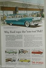 1956 Ford advertisement, FORD station wagons, Parklane, Squire, Ranch etc