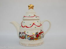 WADE CHRISTMAS TEAPOT 2 CUP SIZE ENGLISH LIFE
