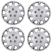 "15"" Wheel Trims Covers Tyre Valve Caps Ties Alloy Look Silver spoke rims type 1"