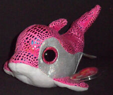 TY BEANIE BOOS BOO'S - SPARKLES the DOLPHIN - MINT with MINT TAGS